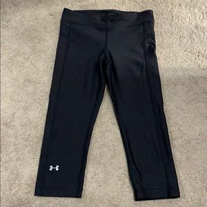 Cropped under armour workout leggings